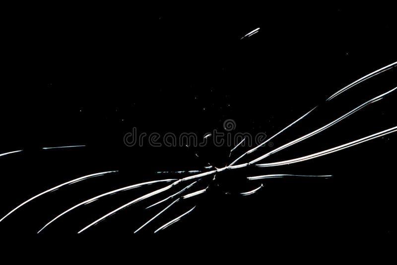 在白色背景,残破的eBook屏幕的黑残破的片剂 免版税图库摄影