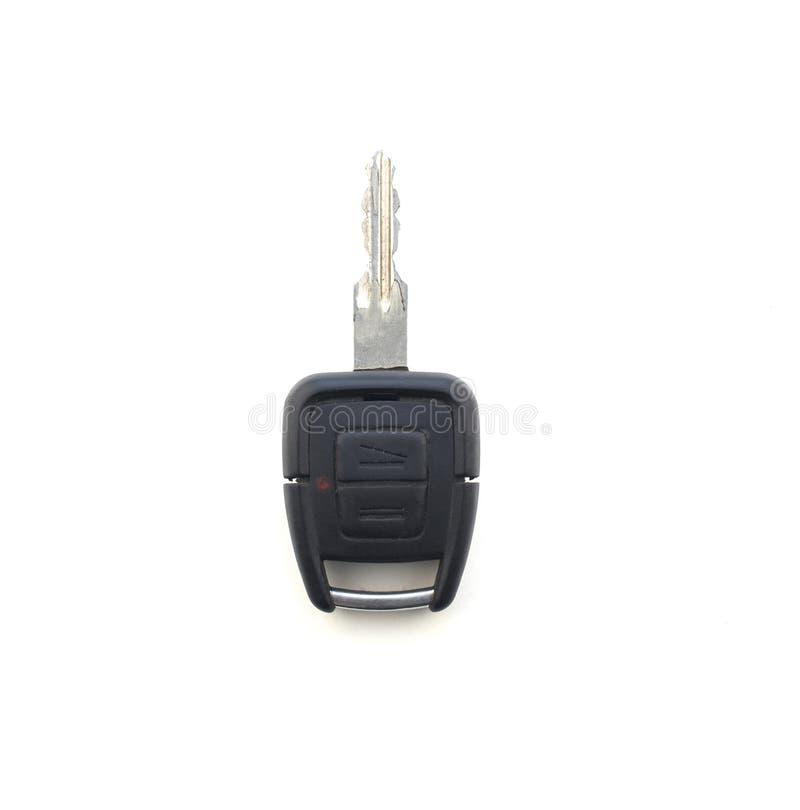 在白色背景,特写镜头,孤立的汽车钥匙,自动 免版税库存照片