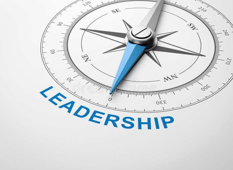 在白色背景,领导概念的指南针 皇族释放例证