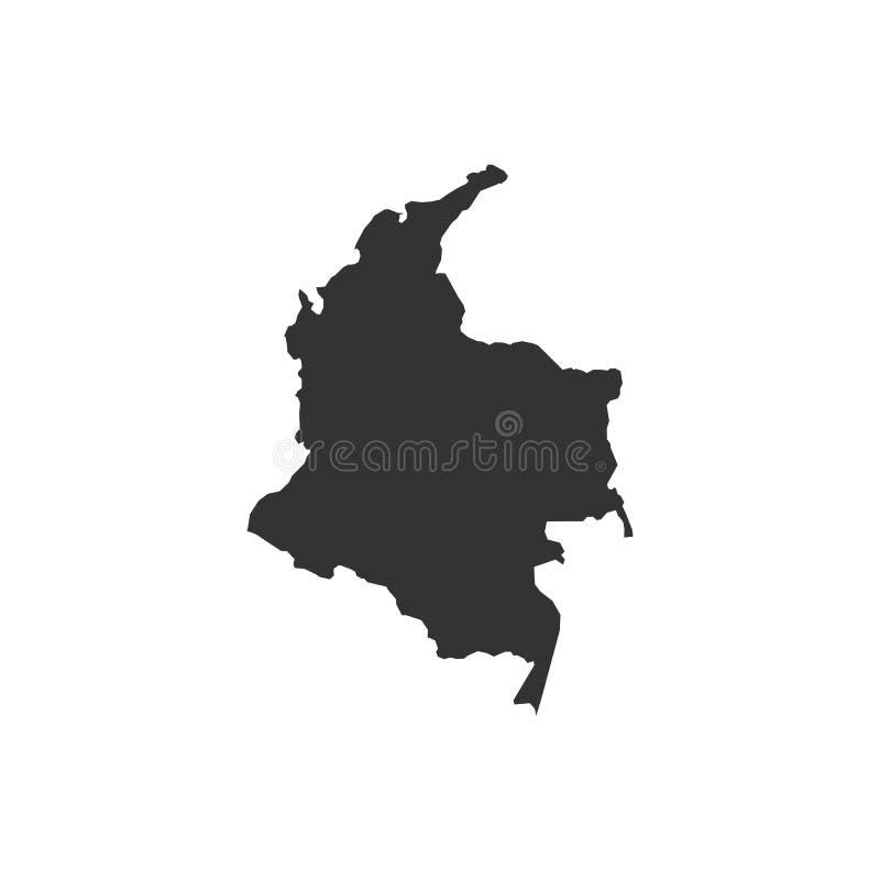 在白色背景-传染媒介的哥伦比亚地图 皇族释放例证