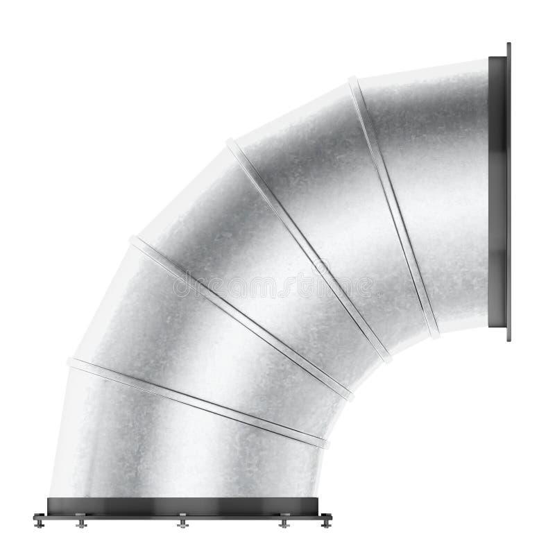 在白色背景90度隔绝的空气管道弯 3d烈 向量例证