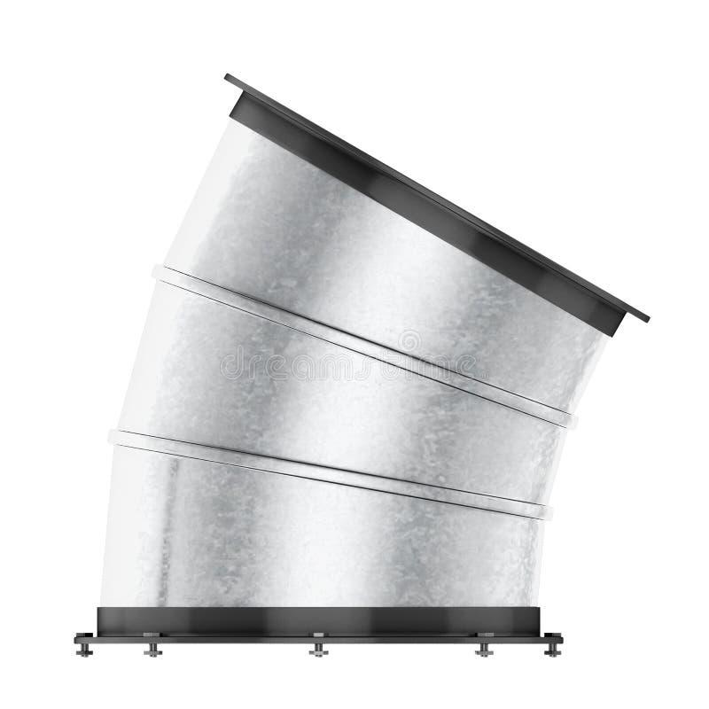 在白色背景30度隔绝的空气管道弯 3d烈 向量例证