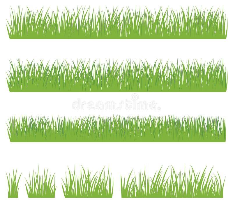 在白色背景绿草隔绝的套 向量例证