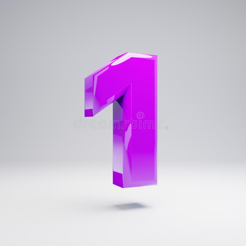在白色背景1隔绝的容量光滑的紫罗兰色第 库存例证