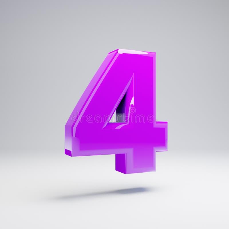 在白色背景4隔绝的容量光滑的紫罗兰色第 向量例证