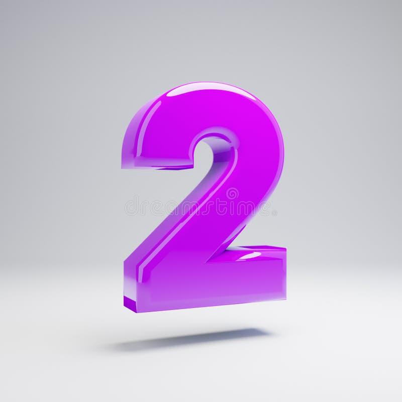 在白色背景2隔绝的容量光滑的紫罗兰色第 库存例证
