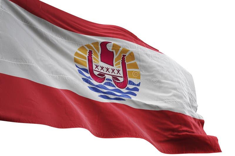 在白色背景3d例证隔绝的法属玻里尼西亚全国沙文主义情绪 库存例证