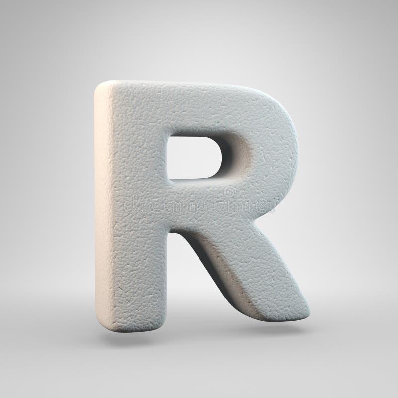 在白色背景R隔绝的容量建筑泡沫大写字目 库存例证