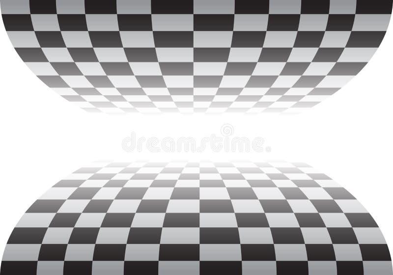 在白色设计种族冠军背景传染媒介的方格的曲线 皇族释放例证