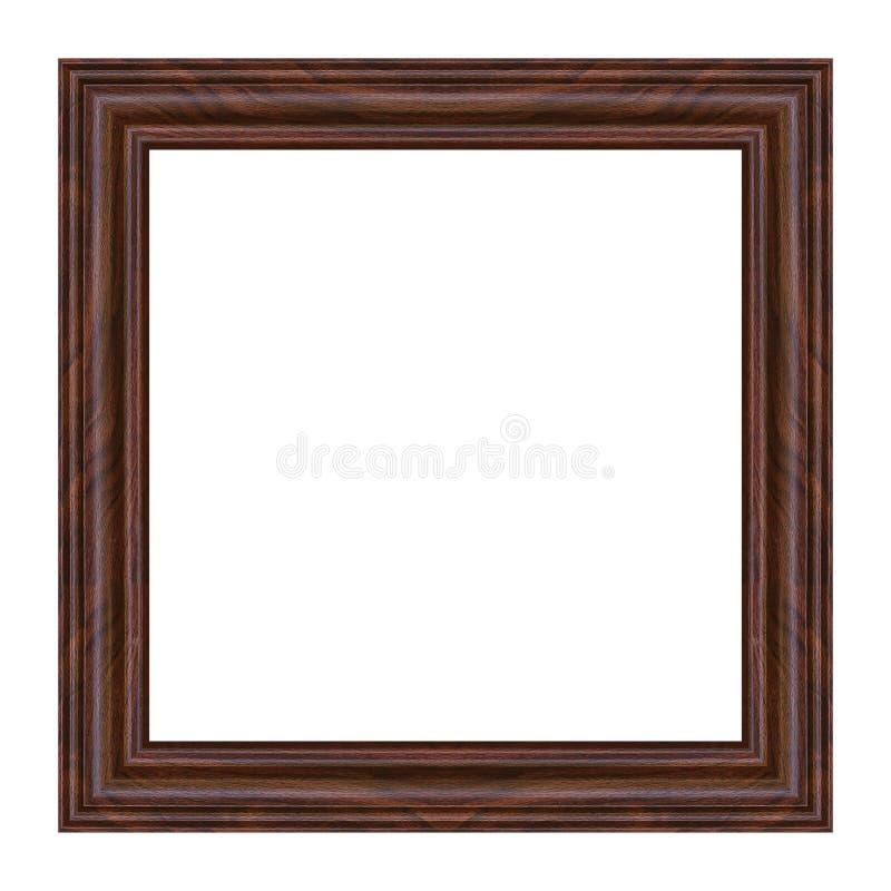 在白色隔绝的古色古香的木相框 库存图片