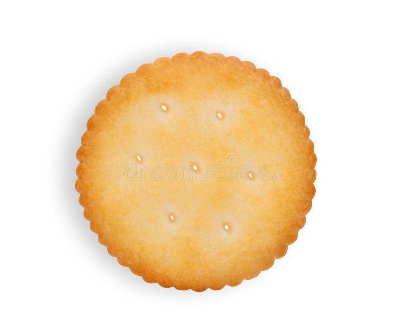 在白色隔绝的唯一饼干薄脆饼干 免版税图库摄影