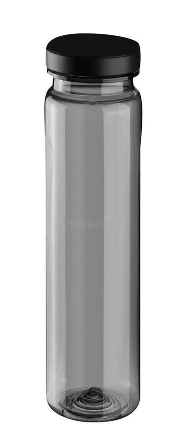 在白色隔绝的塑料体育水瓶 免版税库存图片