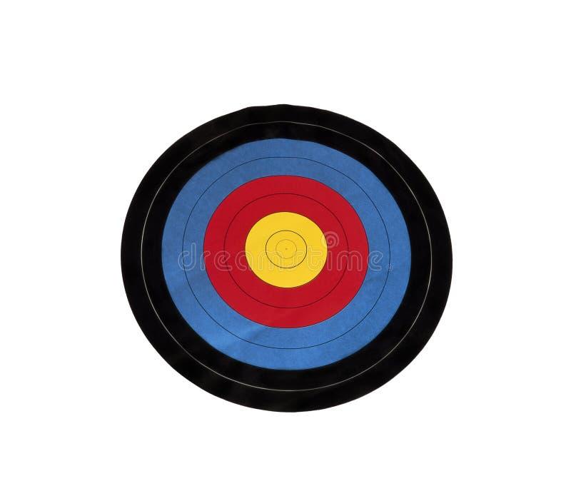 在白色隔绝的射箭目标 免版税库存图片