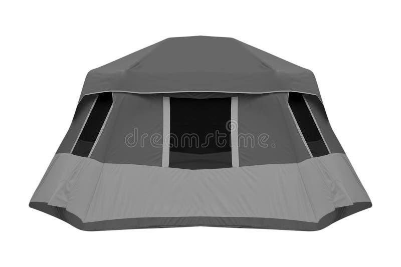 在白色隔绝的帐篷 免版税库存照片