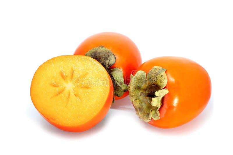 在白色隔绝的柿子 免版税库存照片