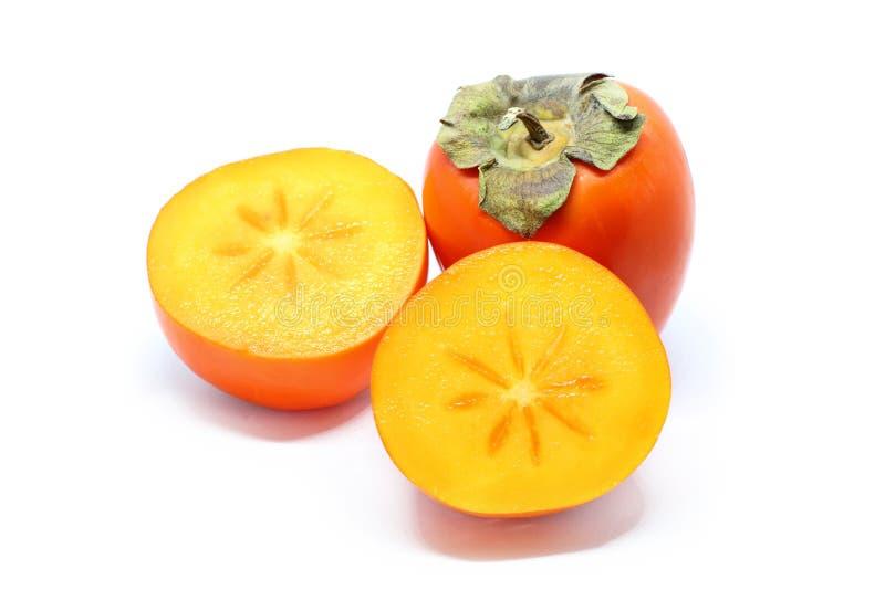 在白色隔绝的柿子 免版税库存图片