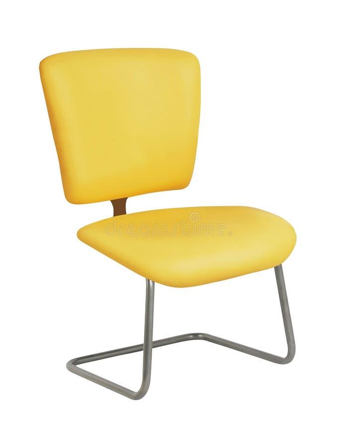 在白色隔绝的现代椅子 免版税库存图片
