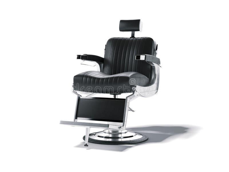 在白色隔绝的理发店椅子 3d翻译 皇族释放例证