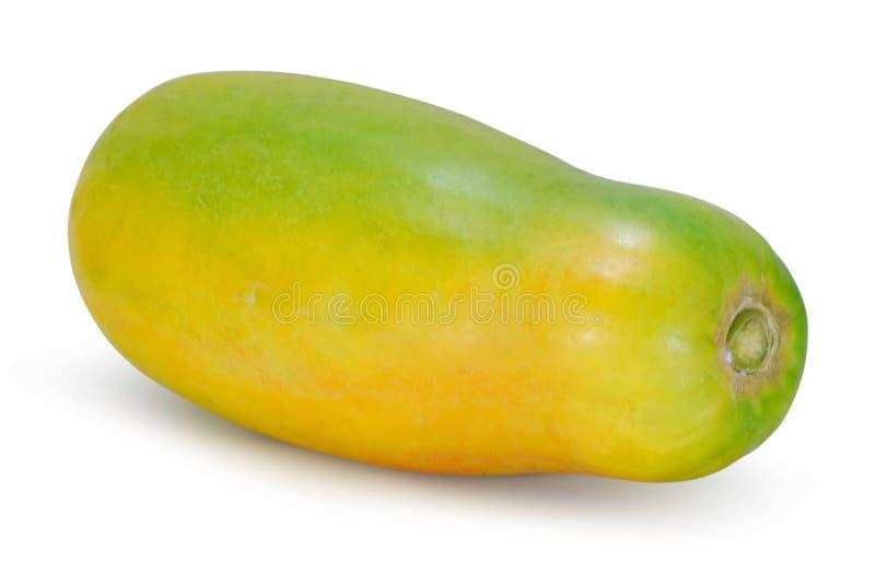 在白色隔绝的番木瓜果子 库存图片