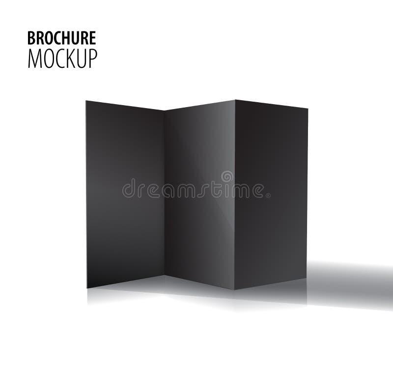 在白色隔绝的空白三部合成的纸黑小册子大模型 r 皇族释放例证