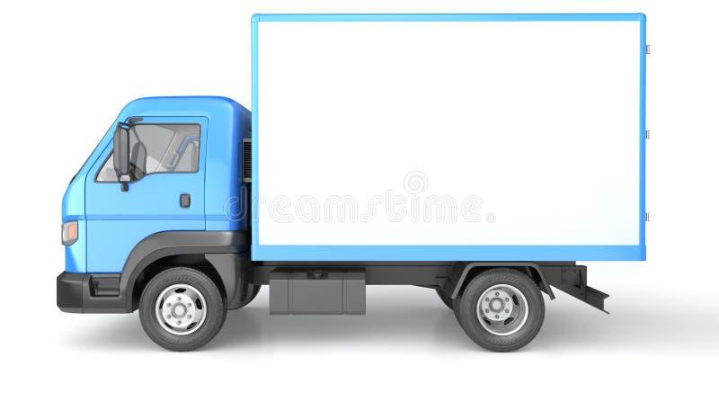 在白色隔绝的箱子卡车 向量例证