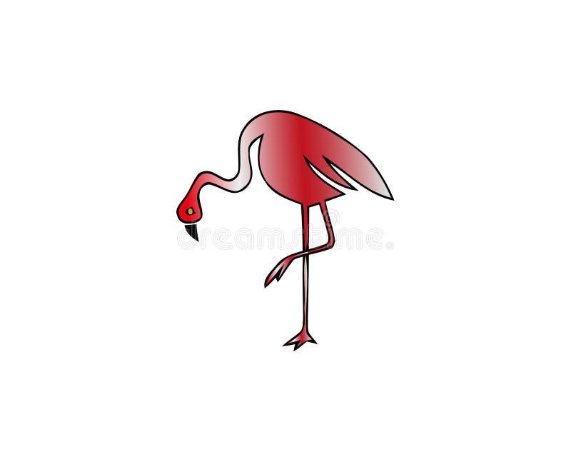 在白色隔绝的红色火鸟传染媒介例证 涉水鸟 更加极大的火鸟 火鸟较少 智利火鸟 库存例证