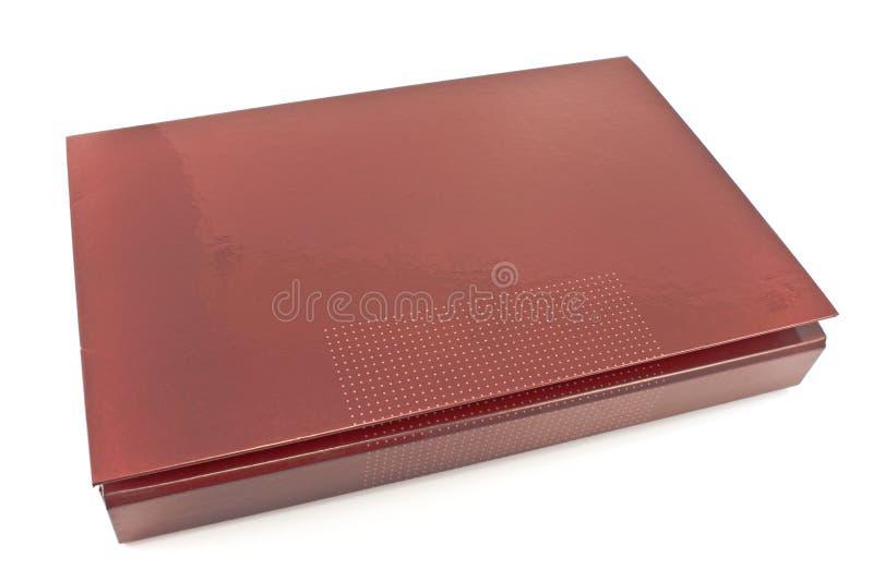 在白色隔绝的红色股份单文件夹 库存图片