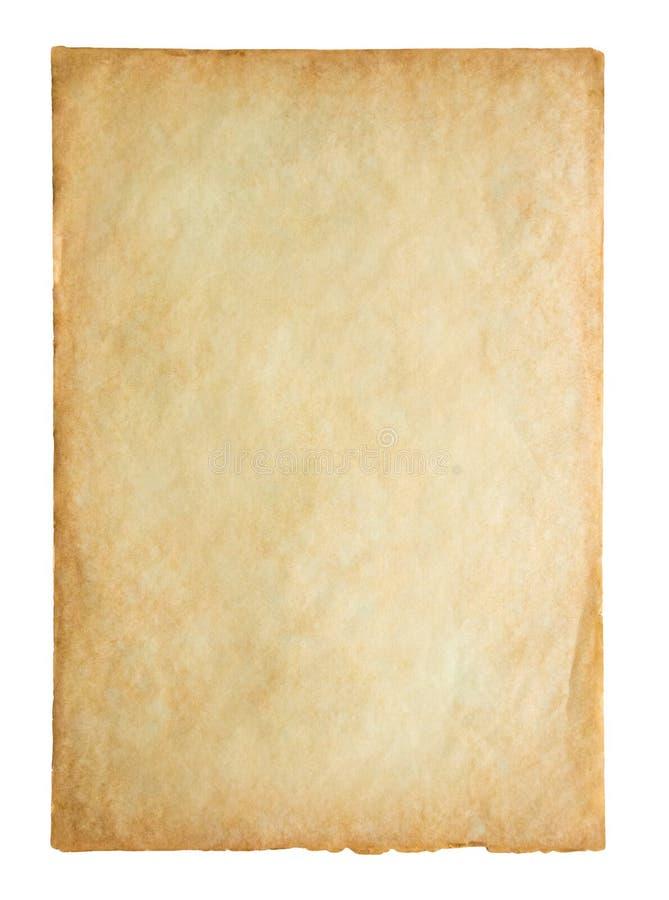 在白色隔绝的老葡萄酒纸板料纹理 免版税图库摄影