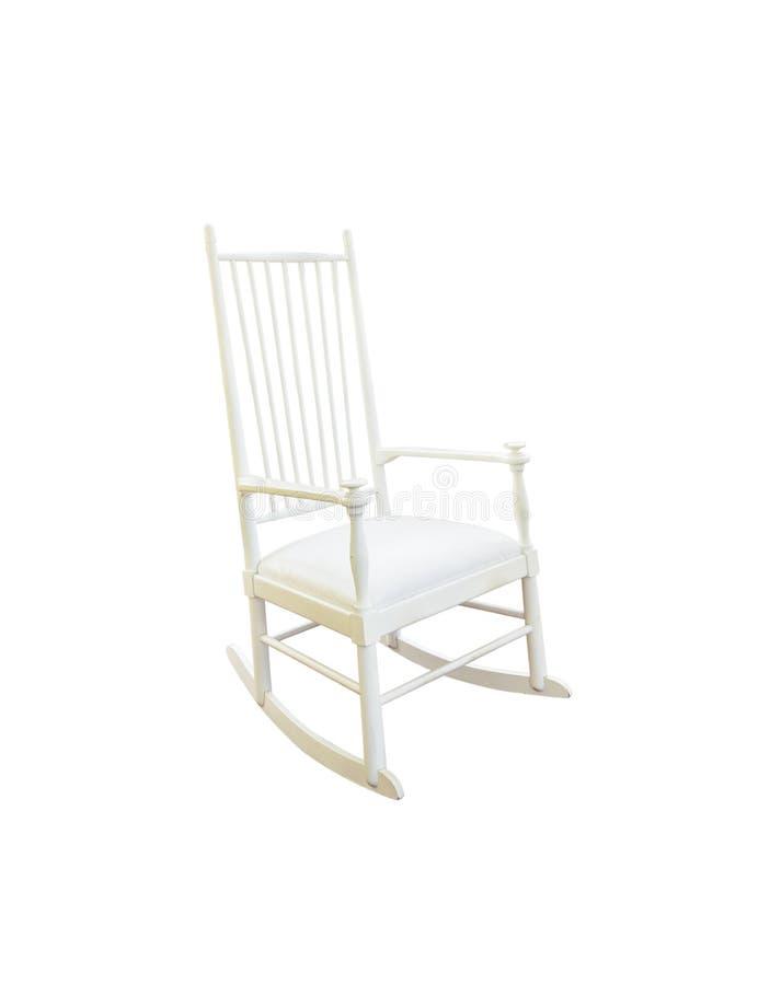 在白色隔绝的葡萄酒摇椅 免版税库存图片