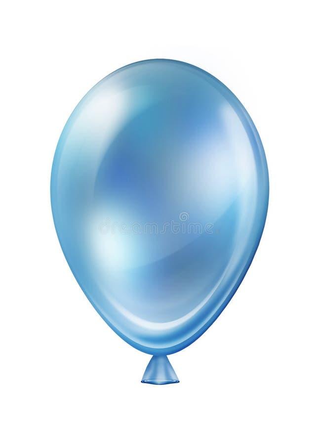 在白色隔绝的蓝色热空气飞行气球假日装饰 皇族释放例证