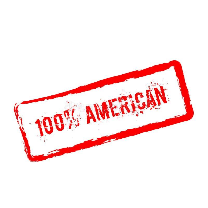 在白色隔绝的100%美国红色不加考虑表赞同的人 皇族释放例证