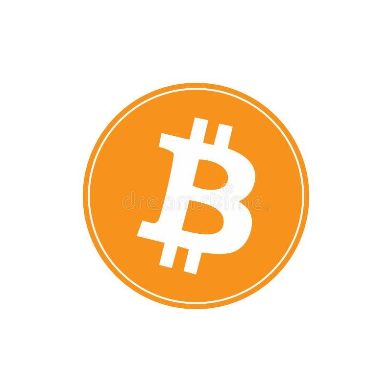在白色隔绝的Bitcoin商标 免版税库存照片