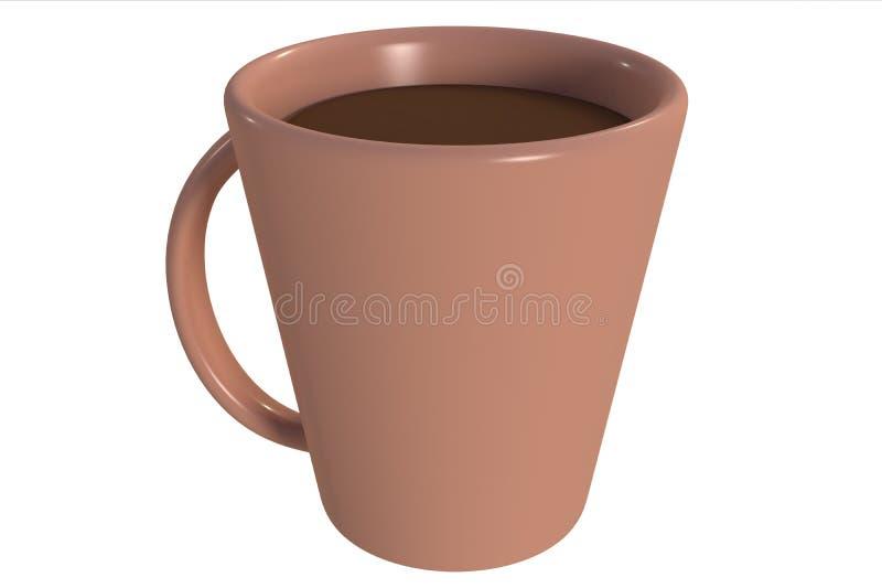 在白色隔绝的Coffe杯子 库存例证