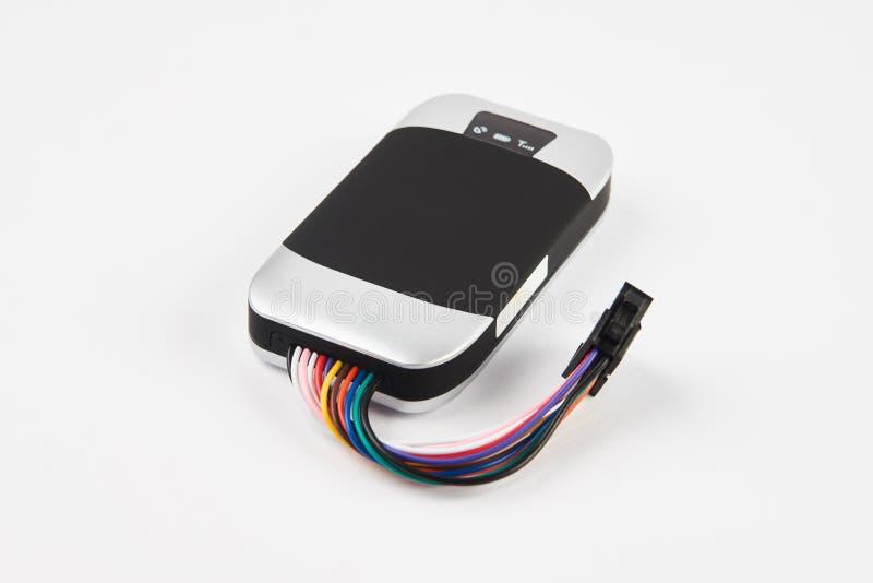 在白色隔绝的GPS跟踪仪 防盗汽车保障系统 免版税库存照片