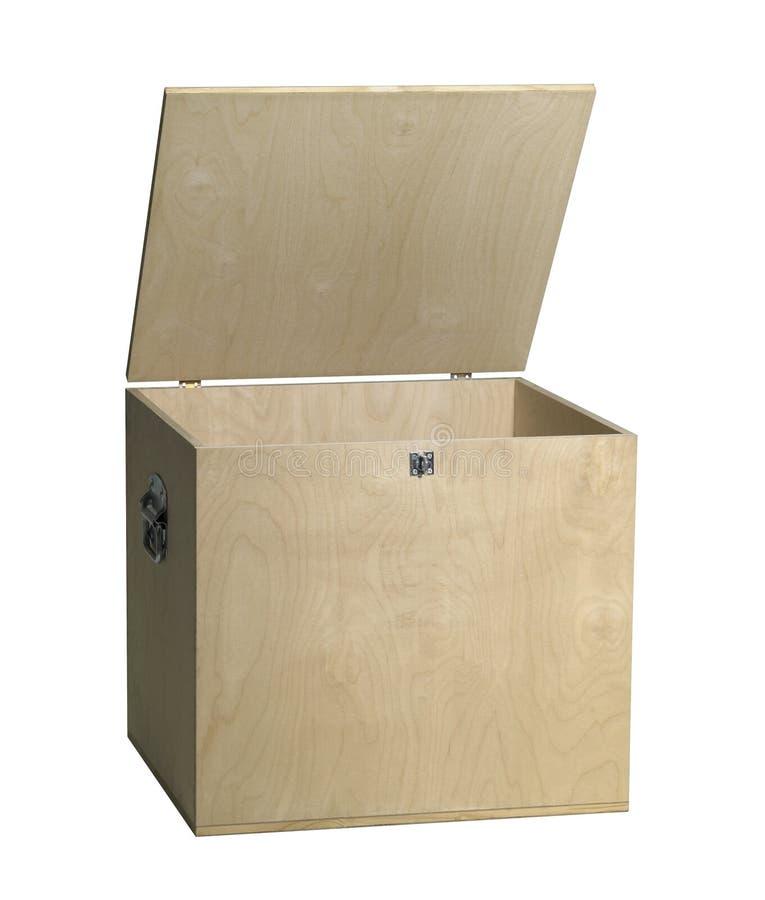 打开木箱 库存照片