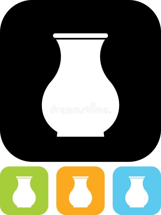 在白色隔绝的传染媒介陶瓷罐例证 皇族释放例证