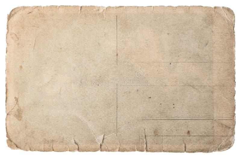 在白色隔绝的使用的纸 葡萄酒被撕毁的纸板 库存照片