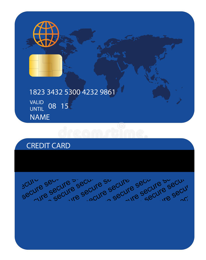 信用卡 库存例证