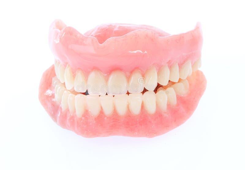 在白色隔绝的假牙 免版税图库摄影