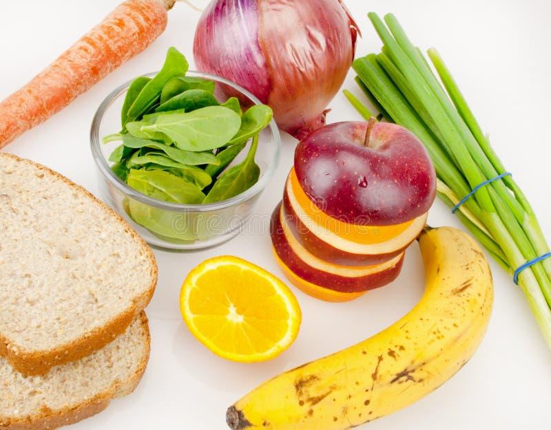 健康食物板材  免版税库存照片