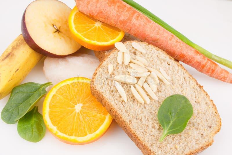 健康食物板材  免版税图库摄影