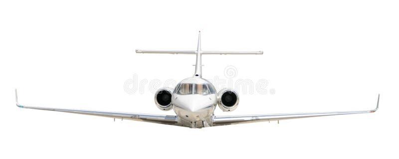 在白色隔绝的公司喷气机 免版税库存图片