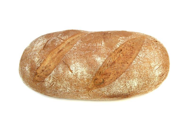 在白色隔绝的农民面包 免版税库存照片