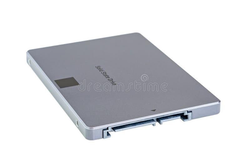 在白色隔绝的固体推进SSD 免版税库存照片