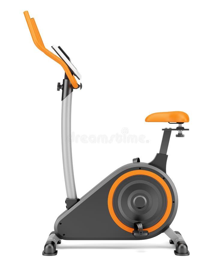 在白色隔绝的固定式锻炼脚踏车 向量例证