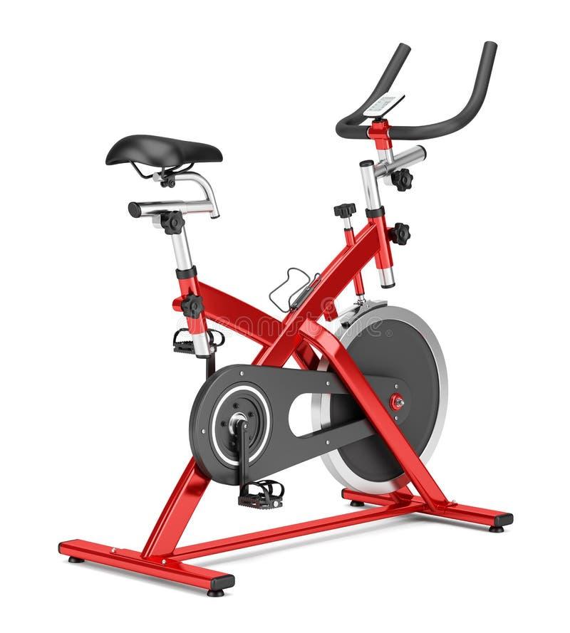在白色隔绝的固定式锻炼脚踏车 皇族释放例证