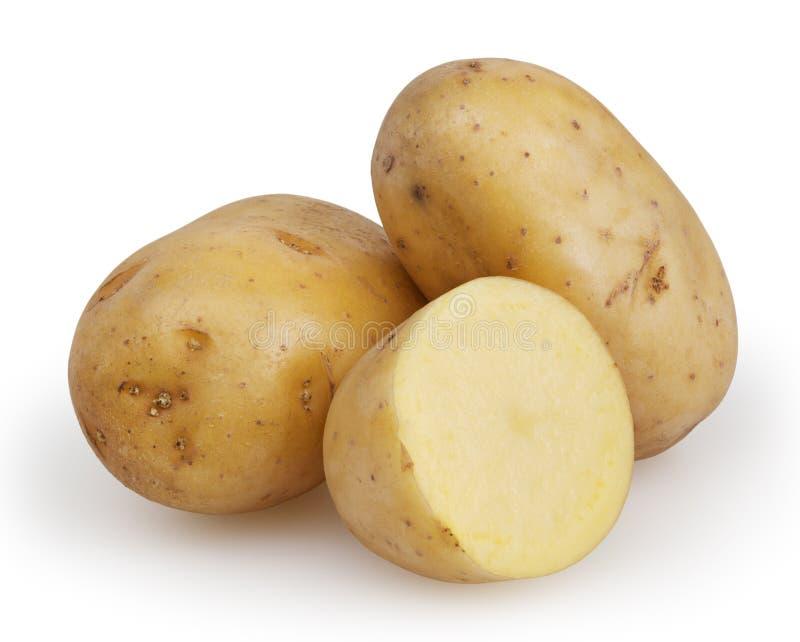 在白色隔绝的土豆 免版税库存图片