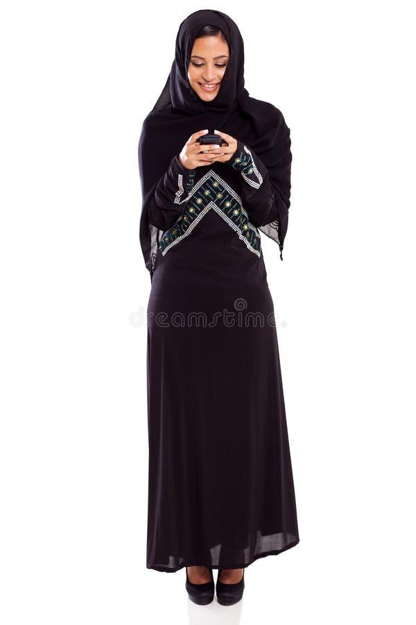 阿拉伯妇女电子邮件 图库摄影