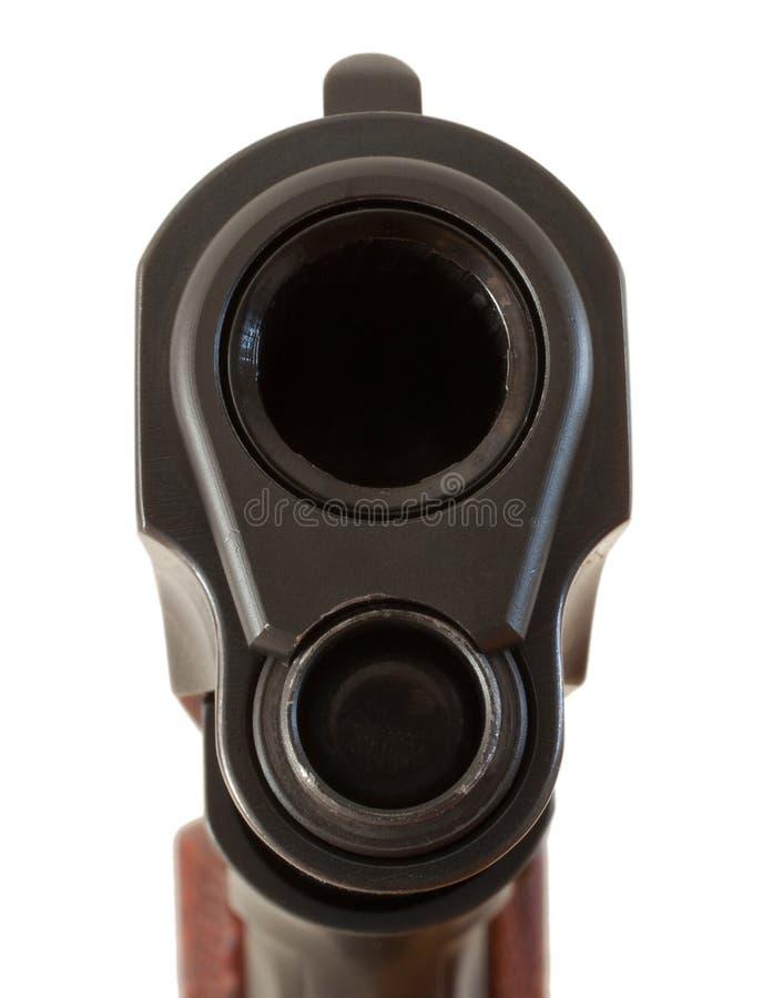 Download 危险目标 库存图片. 图片 包括有 手枪, 金属, 火器, 灰色, 前面, 空白, 纬向条花, 视域, 投反对票 - 30325041