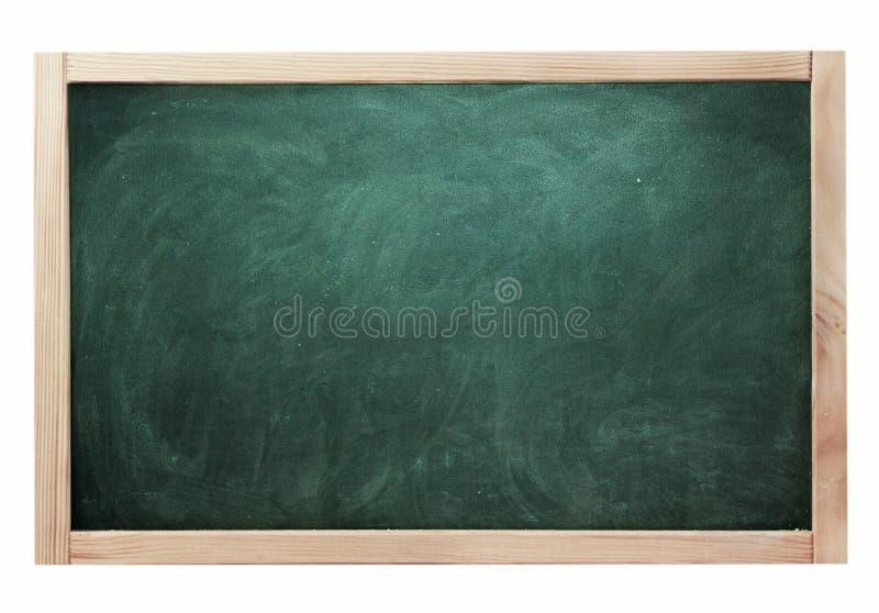 在白色隔绝的教室黑粉笔板绿色 库存照片